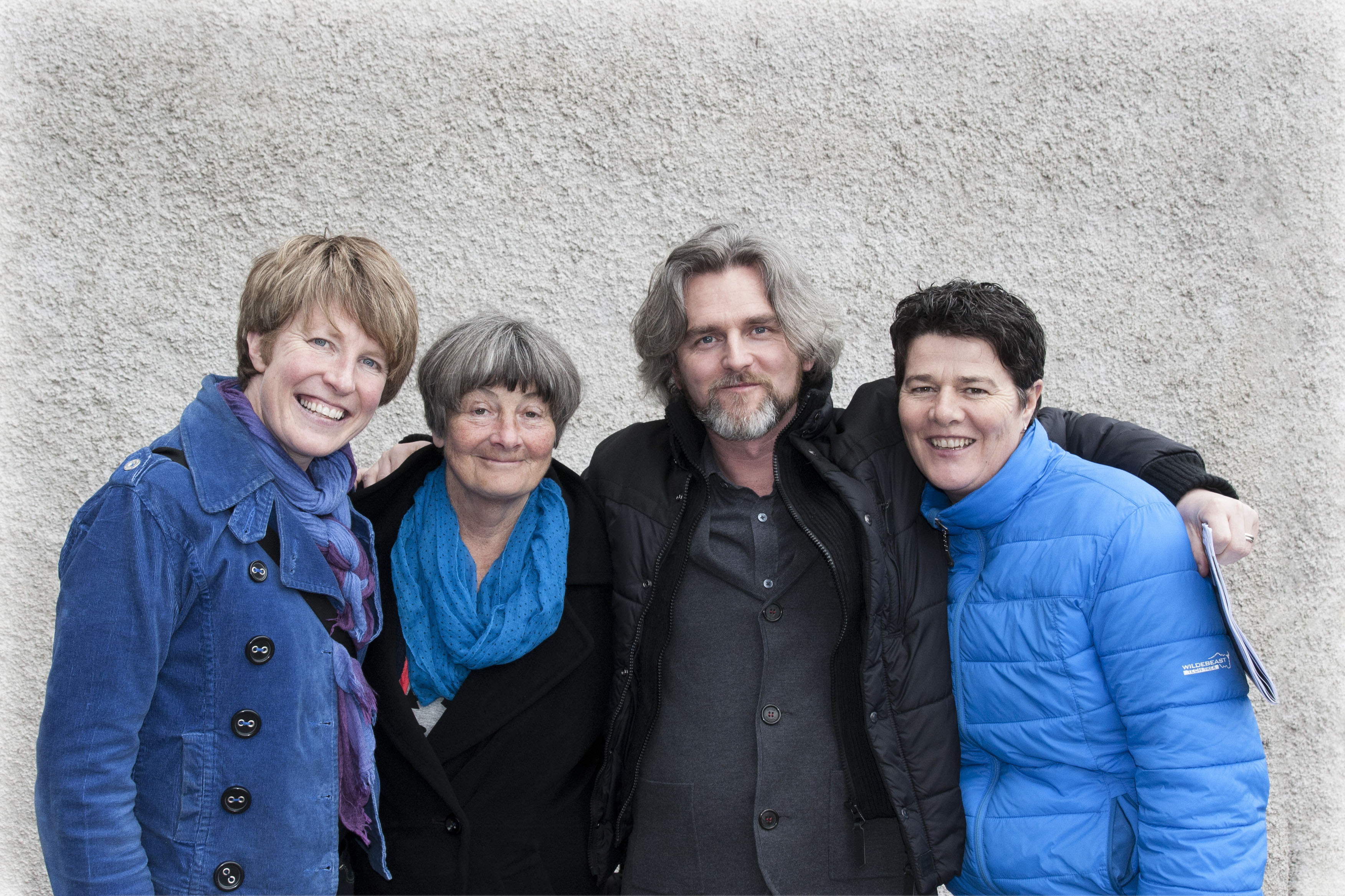 Lisa Fingleton (Left: Director) and Rena Blake (Right: Assistant Producer) of the winning film 'Waiting for you' with Maurice Galway (CEO, Dingle Film Festival) and writer Frances Kay. Photo: Dave Morrison