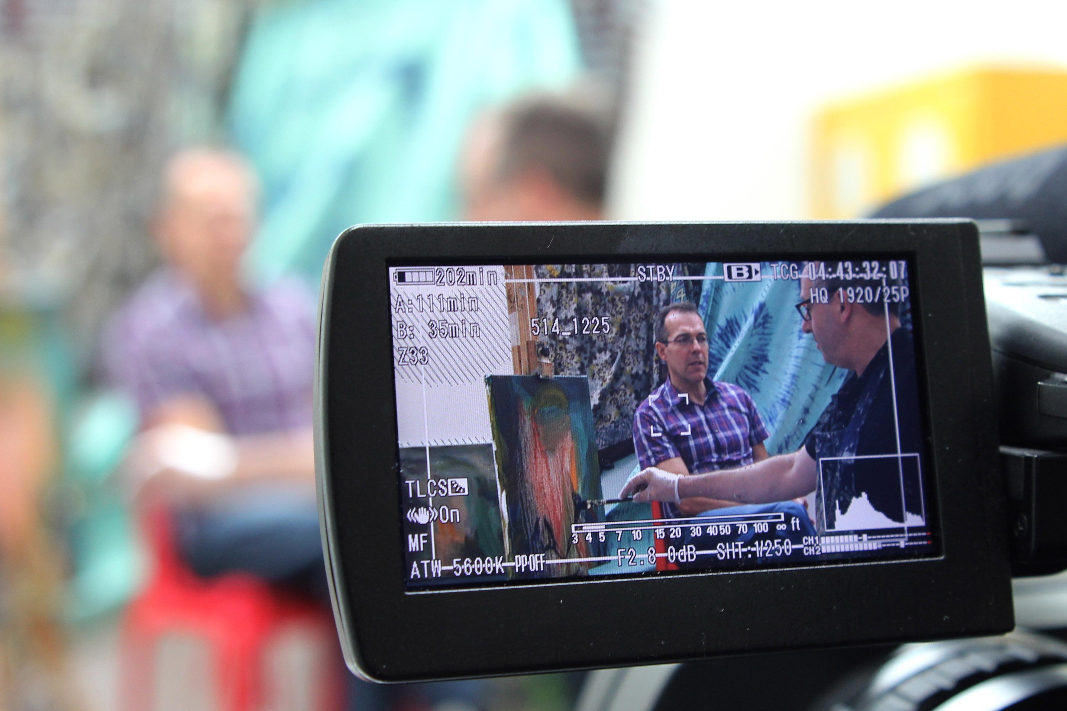 Nick Miller Pat Boran Oil on film July 2014